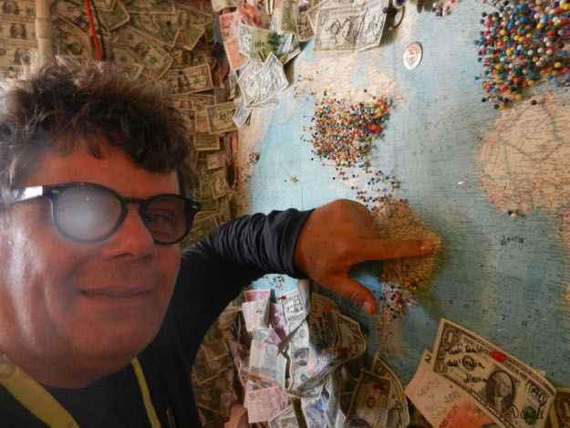 No mapa do mundo, Mário foi o primeiro a marcar Pernambuco (Arquivo Pessoal/ Divulgação)