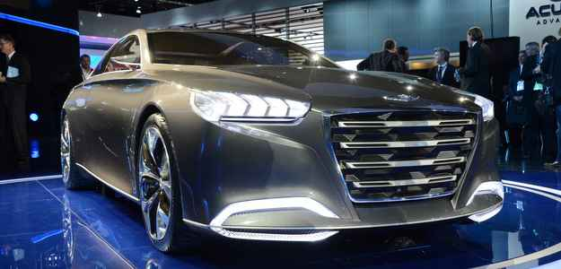 Se você acha os carros da Hyundai ousados, espere para conhecer o novo Genesis, que será baseado no conceito HCD  (Michellin/divulgação)