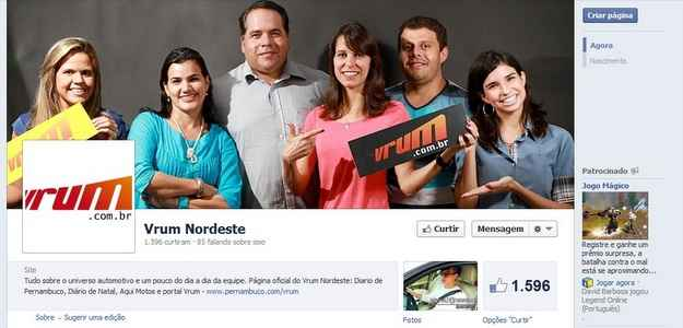 Fanpage: www.facebook.com/VrumNordeste (divulgao )