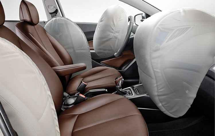 Versão premium ganhou mais dois airbags laterais, além dos dois dianteiros   - Hyundai/ divulgação