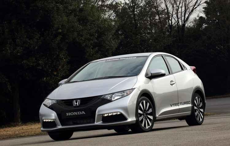 Civic hatch com motor turbo 1.0 tem força nas retomadas e casa bem com a transmissão de sete velocidades - Honda/ divulgação