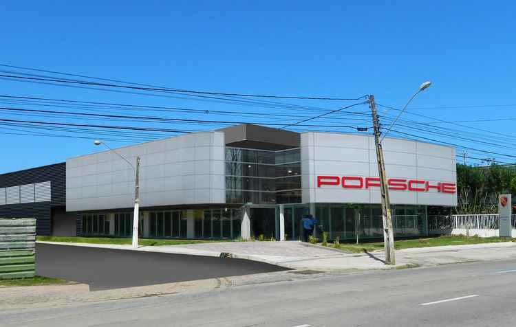 Fotomontagem da concessionária Porsche do Recife - Porsche / Divulgação