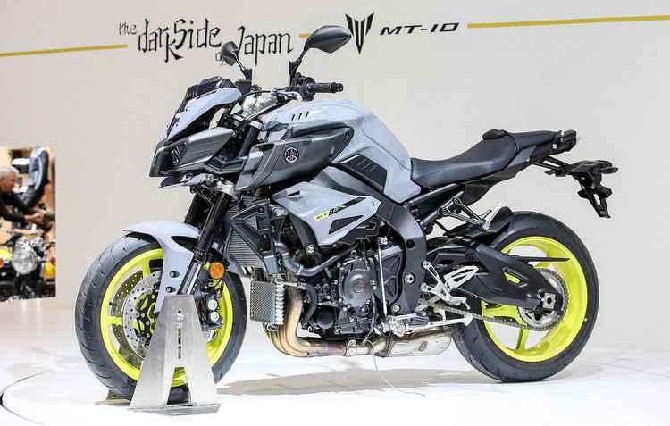 Yamaha MT-10 conta com motor quatro cilindros, 998 cc  - EICMA/Divulgacao