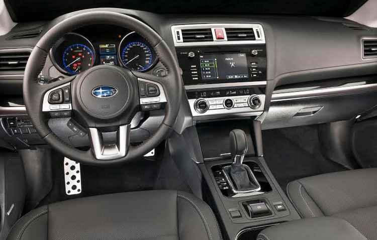 Interior do Legacy tem bom acabamento  -  Subaru/Divulgacao