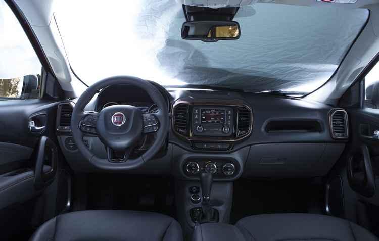 Primeira imagem do interior divulgada pela Fiat - Fiat/ divulgação