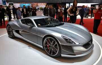 Modelo da Rimac tem produção de 8 carros - Fabrice Coffrini / AFP
