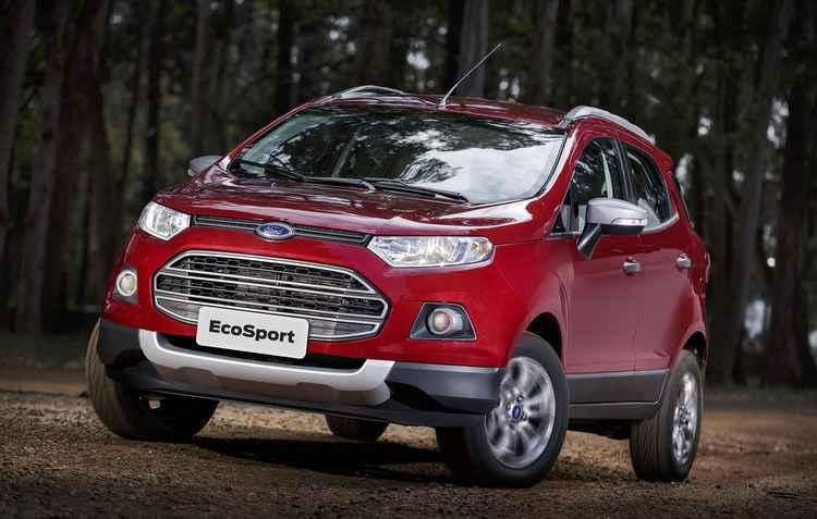 O EcoSport é uma opção para viagens por conta do seu amplo espaço interno - Ford / Divulgação