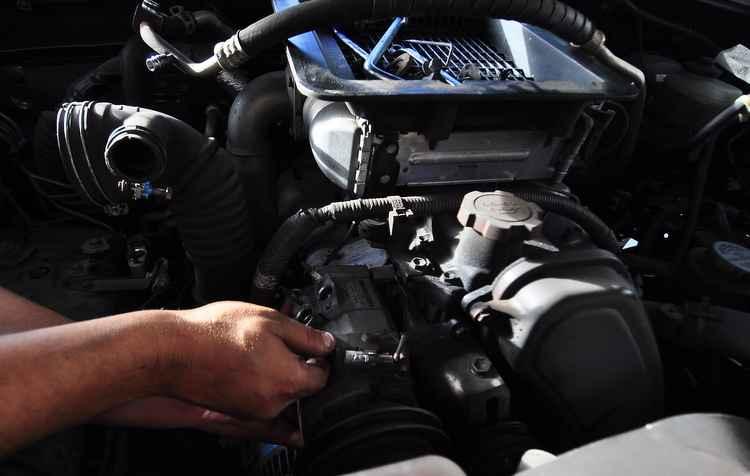 Manutenção do ar-condicionado deve ser feita junto com a do veículo - Ricardo Fernandes / DP / D.A Press