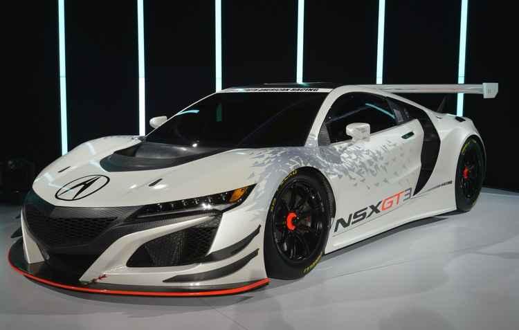 a Acura, empresa de carros luxuosos da Honda, exibiu o seu novo NSX GT3, feito especialmente para enfrentar pistas de corridas - Joint Photographic Experts Group / Divulgacao