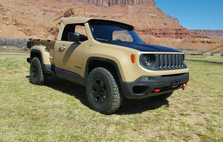 Jeep Comanche picape conceito do renegade - Jorge Moraes DP