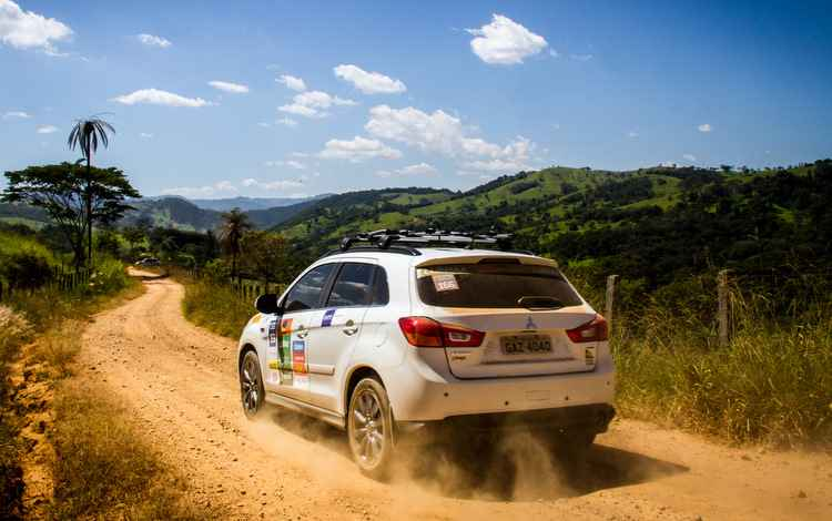O Rali será divido em dois percursos, um de 180 km e outro de 140 km - Mitsubishi / Divulgação
