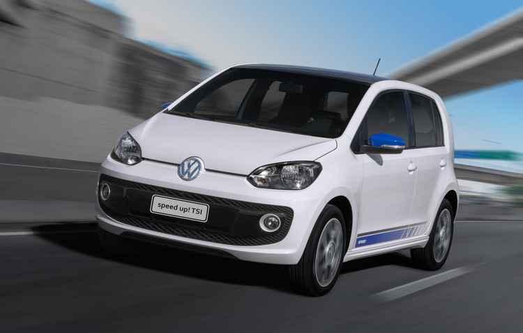 Todas as versões do Volkswagen Up! receberam o selo máximo de eficiência energética  - Marcelo Spatafora/Divulgacao