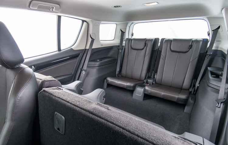 Grandioso espaço interno é característica marcada da Trailblazer; Modelo conta com opção para 7 pessoas - Chevrolet / Divulgação