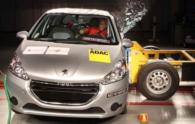 Modelo da Peugeot perdeu duas estrelas em segurança para adultos - Latin NCap/Divulgação