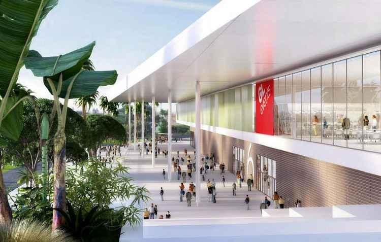 Depois da reforma, o pavilhão do São Paulo Expo terá 110 mil m² de área total, sendo 90 mil m² de área interna - Reed / Divulgacao