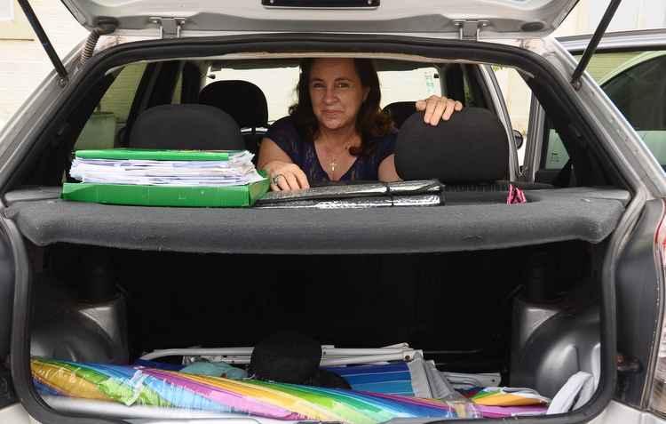Empresas auxiliam mulheres como Luiza, que não tem tempo para dar atenção ao carro - Joao Velozo / DP