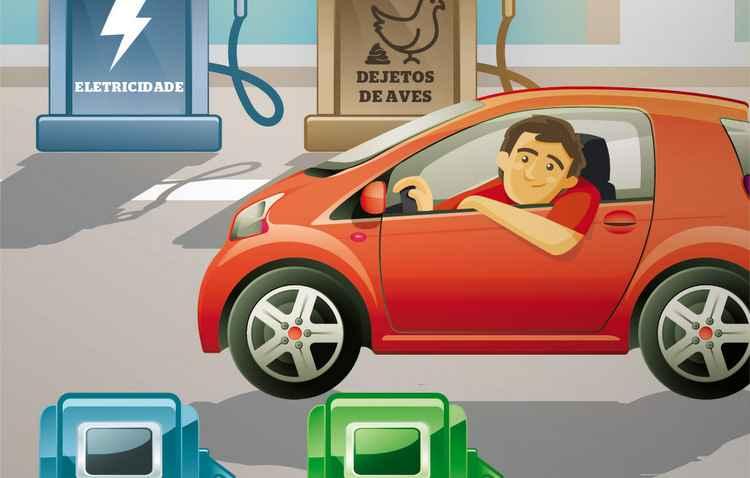 Eletricidade, biometano, hidrogênio e biodiesel são algumas opções para dispensar a gasolina - Silvino / DP