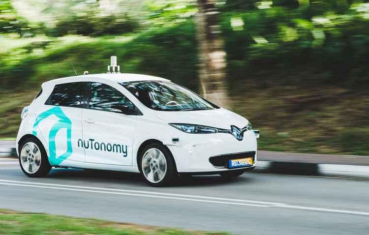 Por enquanto, táxi só roda em uma área de 6 km - nuTonomy / Divulgação