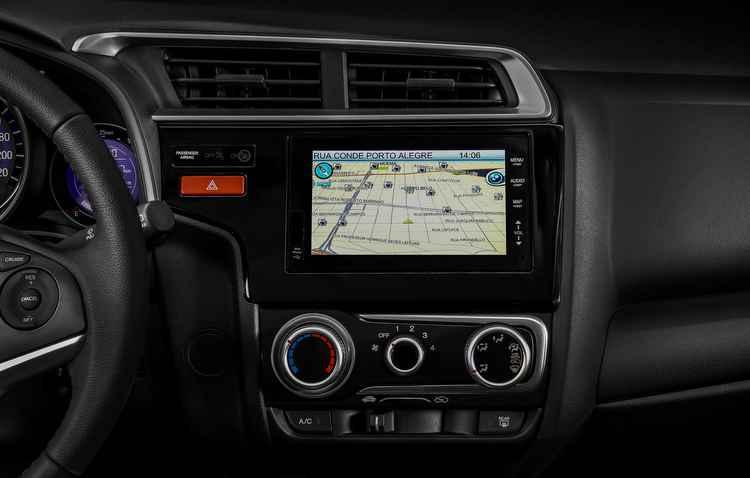 Sistema multimídia com navegador integrado e tela sensível ao toque de sete polegadas vem de série no compacto - Honda / Divulgação