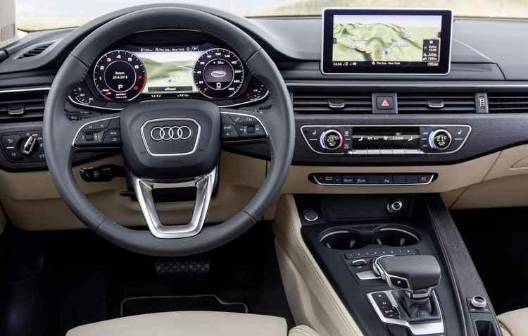 Interior tem acabamento premium e muita tecnologia - Audi / Divulgação