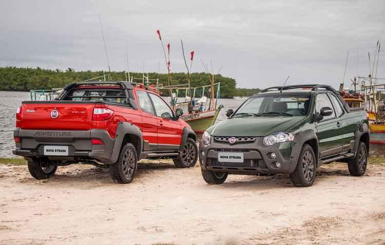 Líder no segmento de picapes, a Fiat Strada ganhou novas versões - Fiat / Divulgação