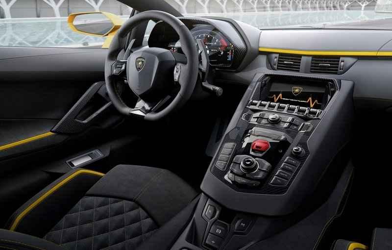 Lamborghini ganhou o painel digital TFT que é personalizado e trás informações da central do Lamborghini - Lamborghini/Divulgação