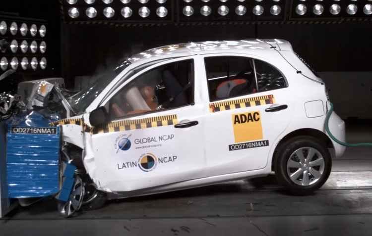 Os modelos da Nissan, fabricados no México, ficaram com avaliação inferior aos produzidos no Brasil - Latin NCAP/Divulgação