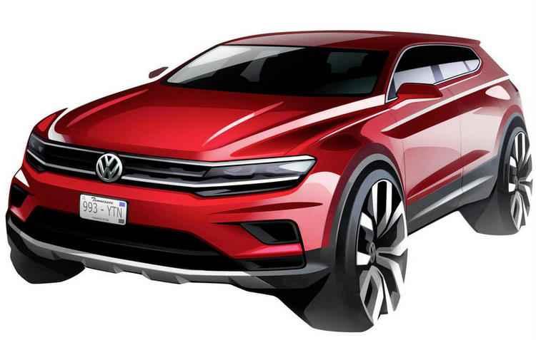 Tiguan ganha diferença de 11 cm nos entre-eixos que aumenta o espaço interno - Volkswagen/Divulgação