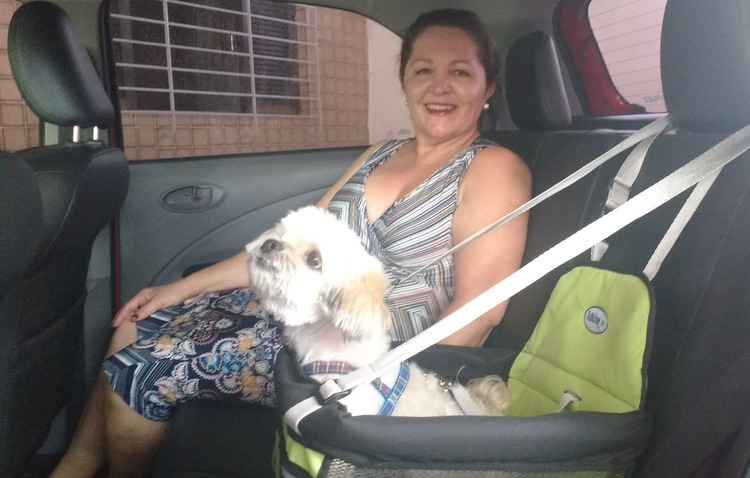 Magna Dornelas já pode viajar dentro das normas com o seu cão - Thainá Nogueira/Esp. DP