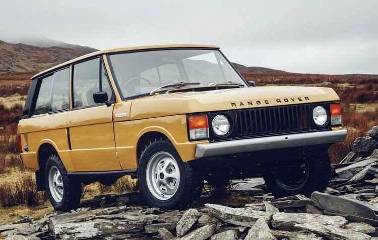 Modelo dos anos 70 ganha cor original Bahama Gold - Ranger Rover/Divulgação
