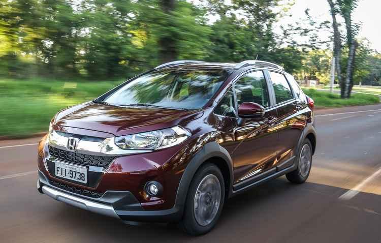 WR-V será oferecido em versões EX e EXL, com diferença apenas no sistema de freios e no de multimídia  - Honda/Divulgação