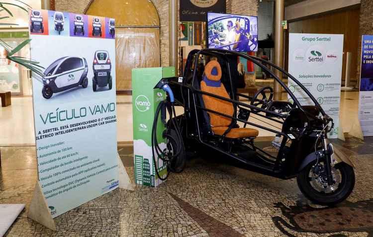 Custo para o uso dos veículos elétricos poderá ser de R$ 30 (1 hora) e R$ 40 (duas horas) - Serttel/Divulgação
