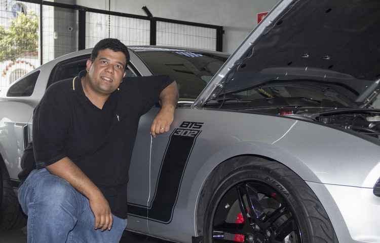 Pedro Bezerra, empresário, deseja participar de competições com o seu Mustang  - Marcio Fuji/Cortesia
