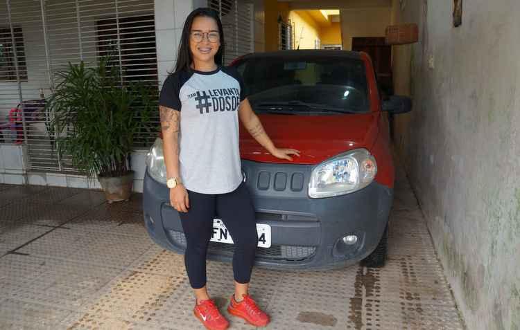 A educadora física Laura Melo contava com a ajuda do som do carro para ficar atenta ao trânsito - Arquivo Pessoal
