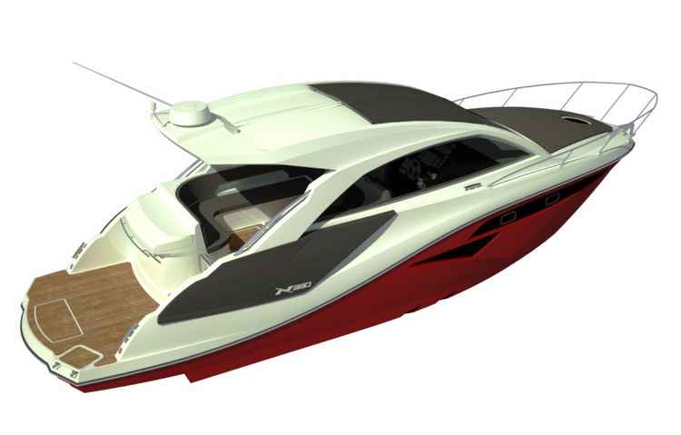Modelo é o primeiro da marca com teto solar elétrico - Nx Boat / Divulgação