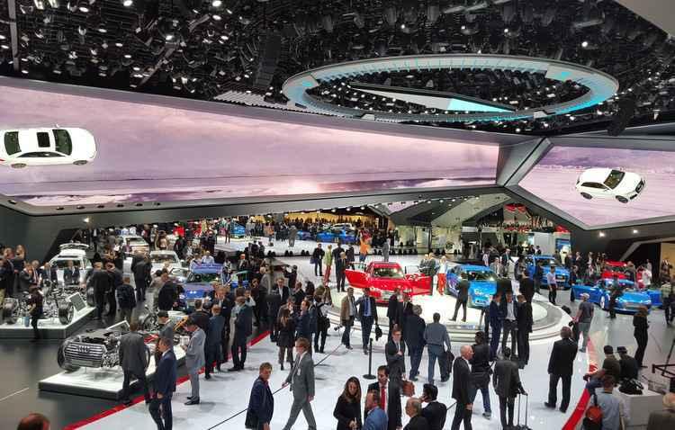 Estande da Audi caprichado até no teto - Jorge Moraes/ DP/ D.A Press