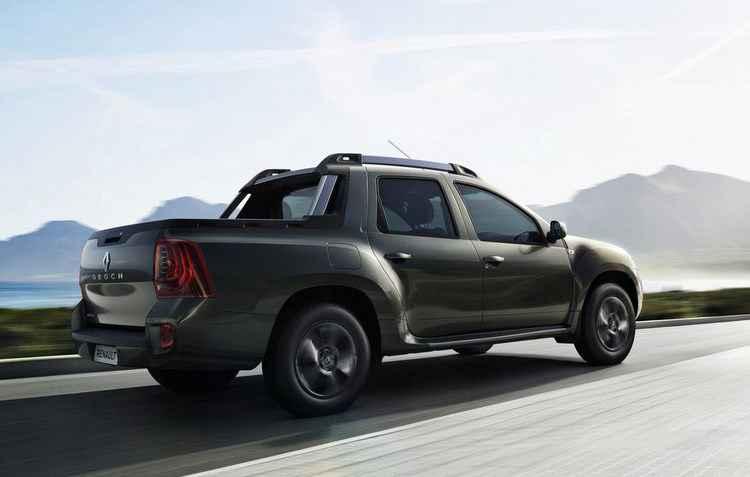A Duster Oroch tem capacidade de carga de 650 quilos, incluindo os passageiros Versão de entrada terá ar-condicionado, direção hidráulica e CD Player com Bluetooth  - Renault / Divulgação