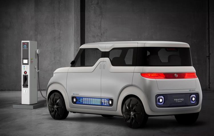 Elétrico, minicarro mostra nível de abastecimento na carroceria  - Nissan/divulgação