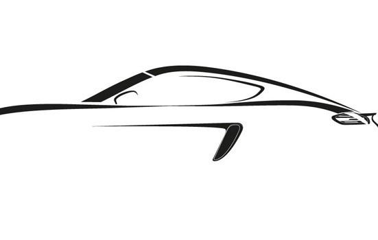 Rascunho da linha 718 da Porsche  - Porsche/divulgação