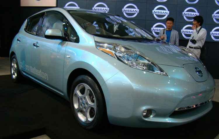 Ao final de dezembro, a Renault-Nissan vendeu um total de 302.000 veículos elétricos no mundo, destaque para o Nissan Leaf - Luciana Morosini DP D.A Press