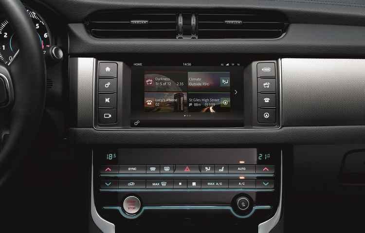 Novo sistema de entretenimento permite espelhamento do smartphone na tela 8 polegadas - Jaguar/Divulgação