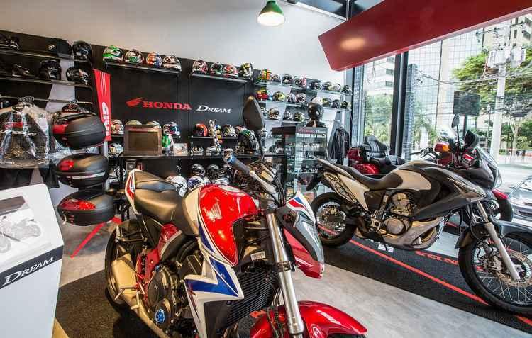 Espaço conta com loja de acessórios - Honda / Divulgação