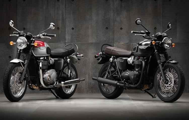 T120 e T120 Black ganharam propulsor bicilíndrico paralelo de 1.200 cc com 10,7 kgfm de torque e acelerador eletrônico - Triumph / Divulgação