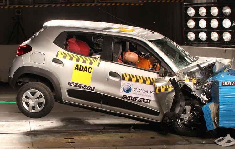 Em relação à proteção para os adultos o modelo não recebeu nenhuma estrela - Global NCAP / Divulgação