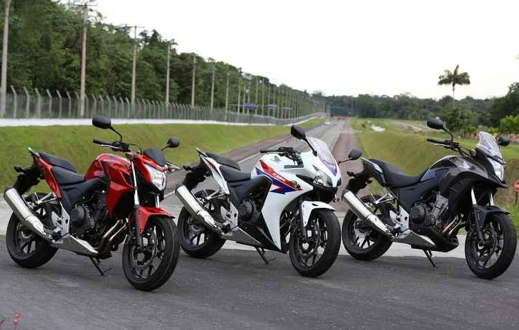 CB500F, CB500X e CB500R passaram a ter nova suspensão com regulagem pré-carga - Caio Mattos / Divulgação