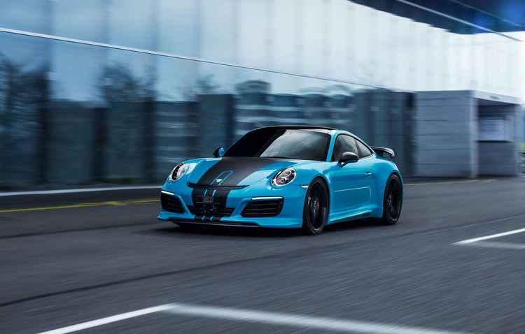 Porsches 911 Carrera S e 911 Turbo S são os modelos que podem contar com a novidade - Techart / Divulgação
