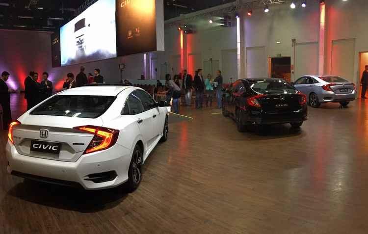 Novo Civic chega ao mercado em três propostas: EX , EXL, Sport e Touring - Jorge Moraes / DP
