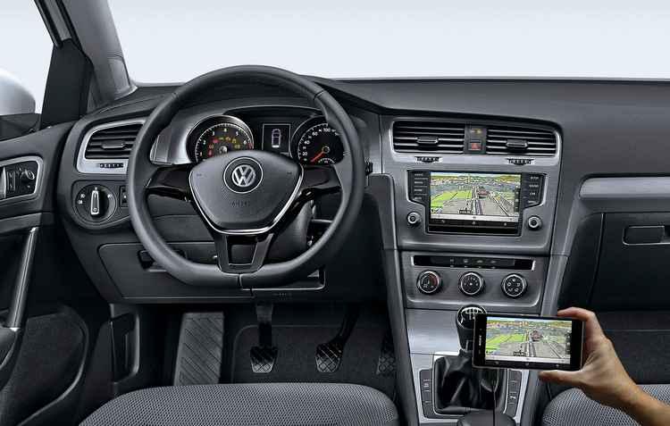 Conectividade é compatível com MirrorLink, Apple CarPlay e Google Android Auto - Volkswagen / Divulgação