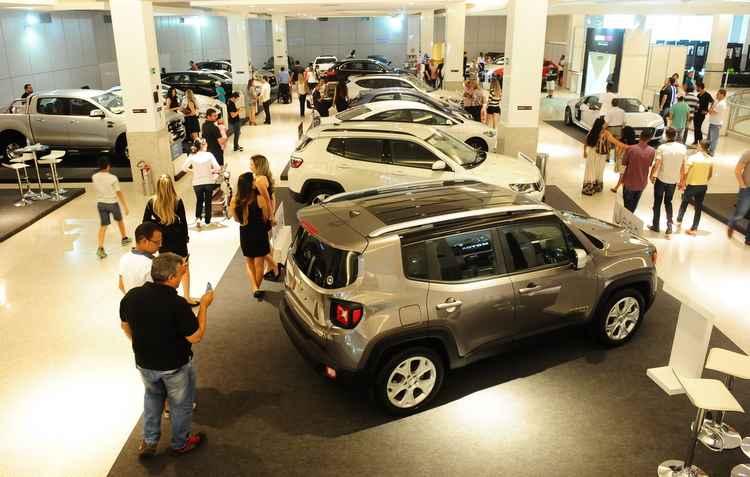 Dentre as novidades está o Renegade, destacando que os SUVs são a aposta no mercado - Motor Show Pernambuco / Divulgação