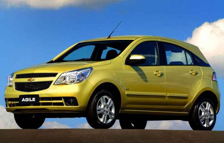 Lançado em 2009, o Agile ganhou a cor amarela mais marcante  - Chevrolet/Divulgação